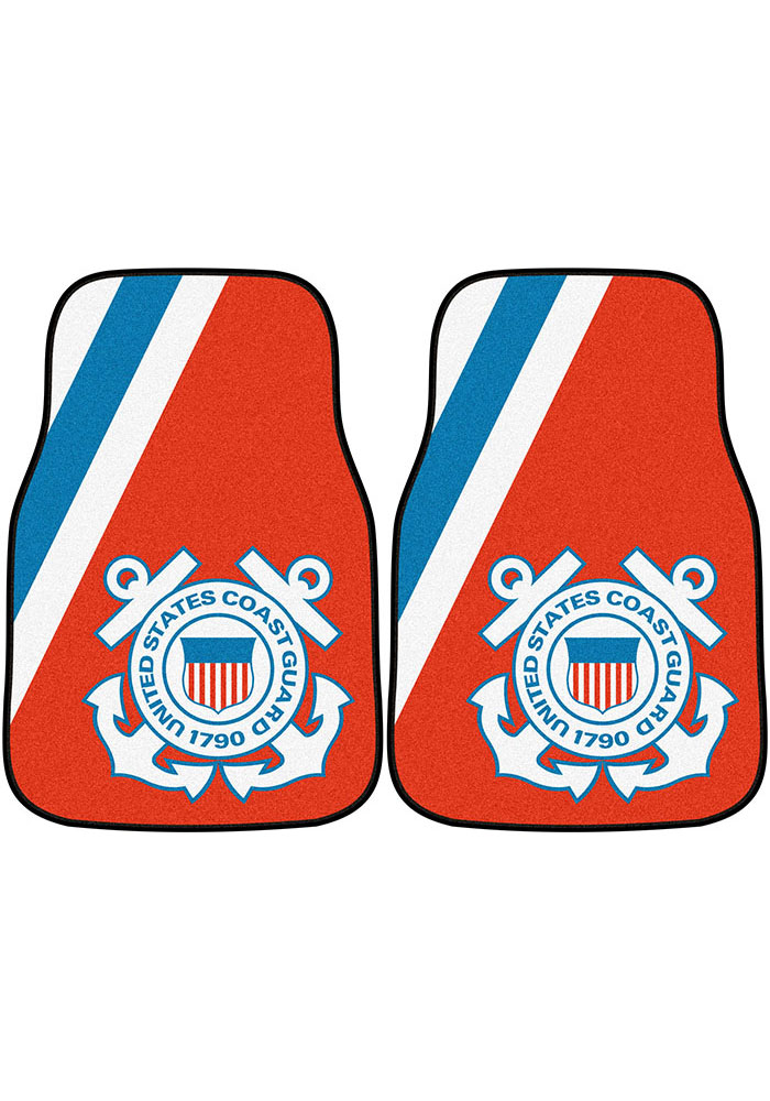 Sports Licensing Solutions Coast Guard 2-Piece Carpet Car Mat - Red - Image 1