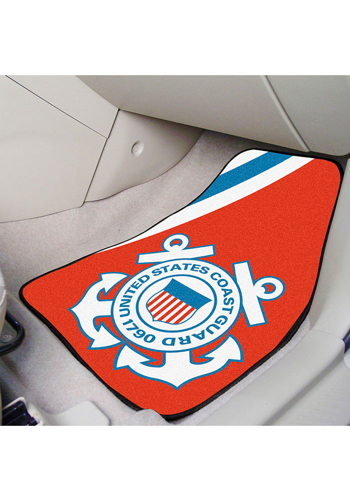 Sports Licensing Solutions Coast Guard 2-Piece Carpet Car Mat - Red - Image 2