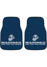 Sports Licensing Solutions Marine Corps 2-Piece Carpet Car Mat - Black