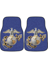 Sports Licensing Solutions Marine Corps 2-Piece Carpet Car Mat - Blue