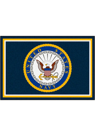Navy 5x8 Plush Interior Rug