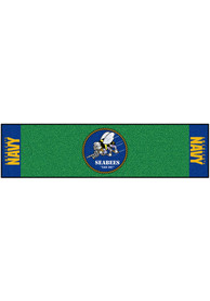 Navy 18x72 Putting Green Runner Interior Rug
