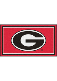 Georgia Bulldogs 3x5 Plush Interior Rug