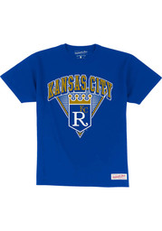 Mitchell and Ness Kansas City Royals Blue Traditional Fashion Tee