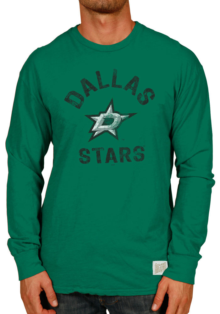 Original Retro Brand Dallas Stars Green Slub Long Sleeve Fashion T Shirt - Image 1