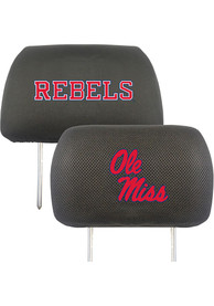 Sports Licensing Solutions Ole Miss Rebels 10x13 Auto Head Rest Cover - Black