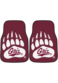 Sports Licensing Solutions Montana Grizzlies 2-Piece Carpet Car Mat - Red
