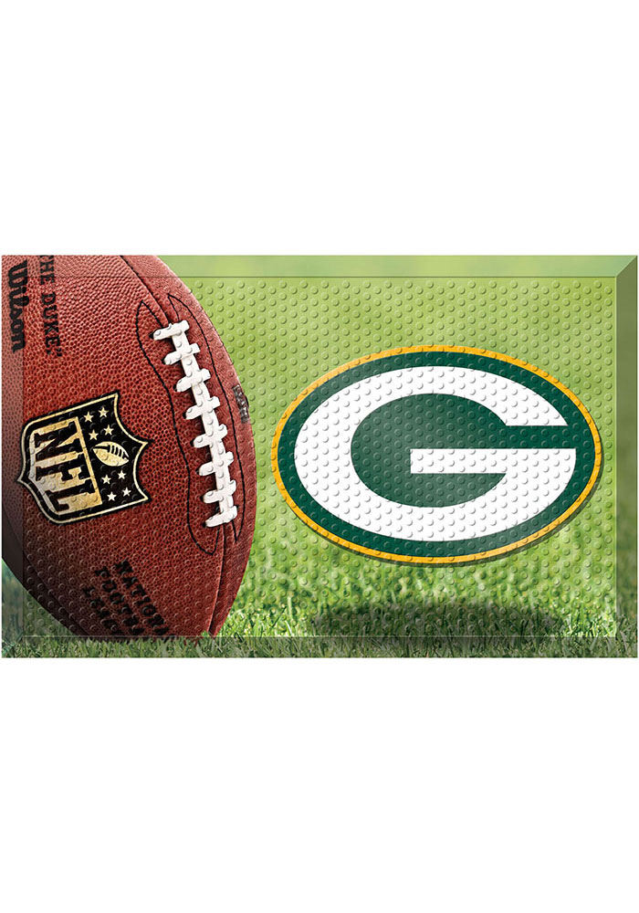 Green Bay Packers 19x30 Door Mat - Image 1