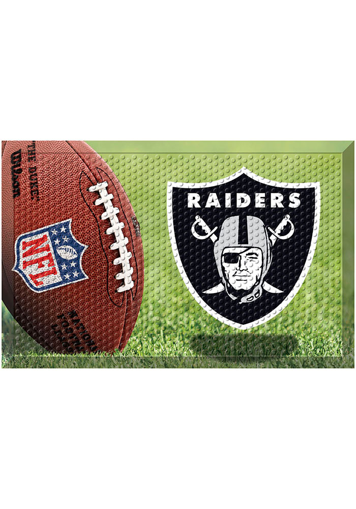 Oakland Raiders 19x30 Door Mat - Image 1