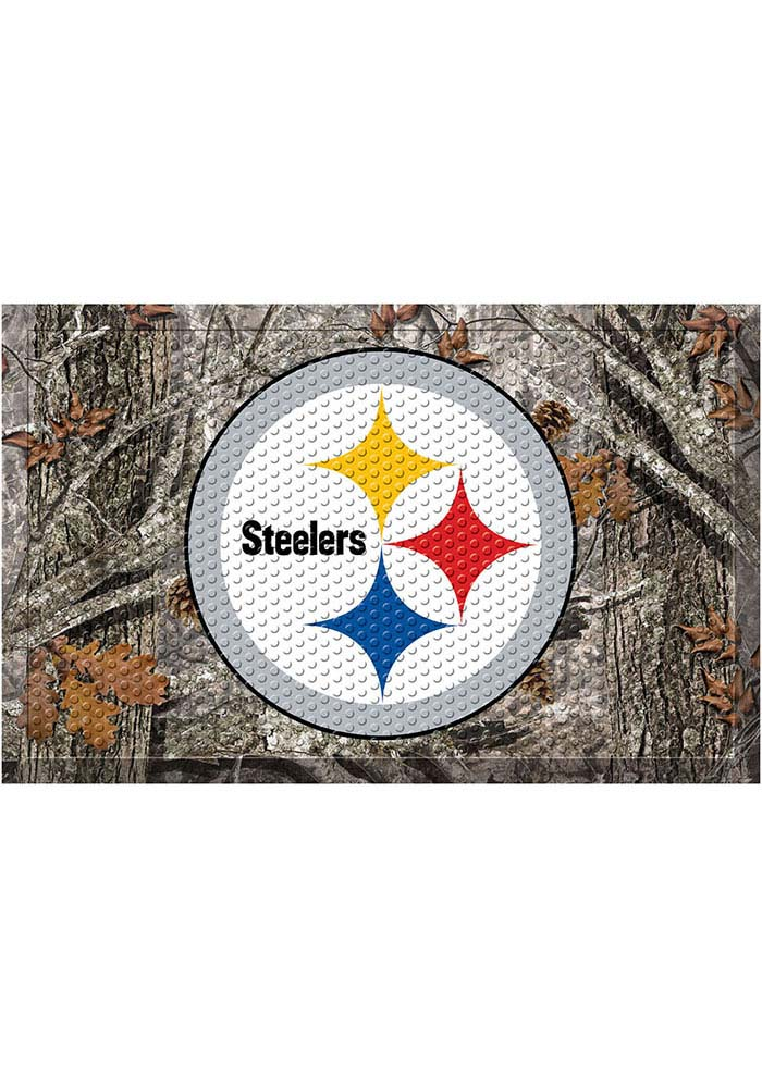 Pittsburgh Steelers 19x30 Door Mat - Image 1