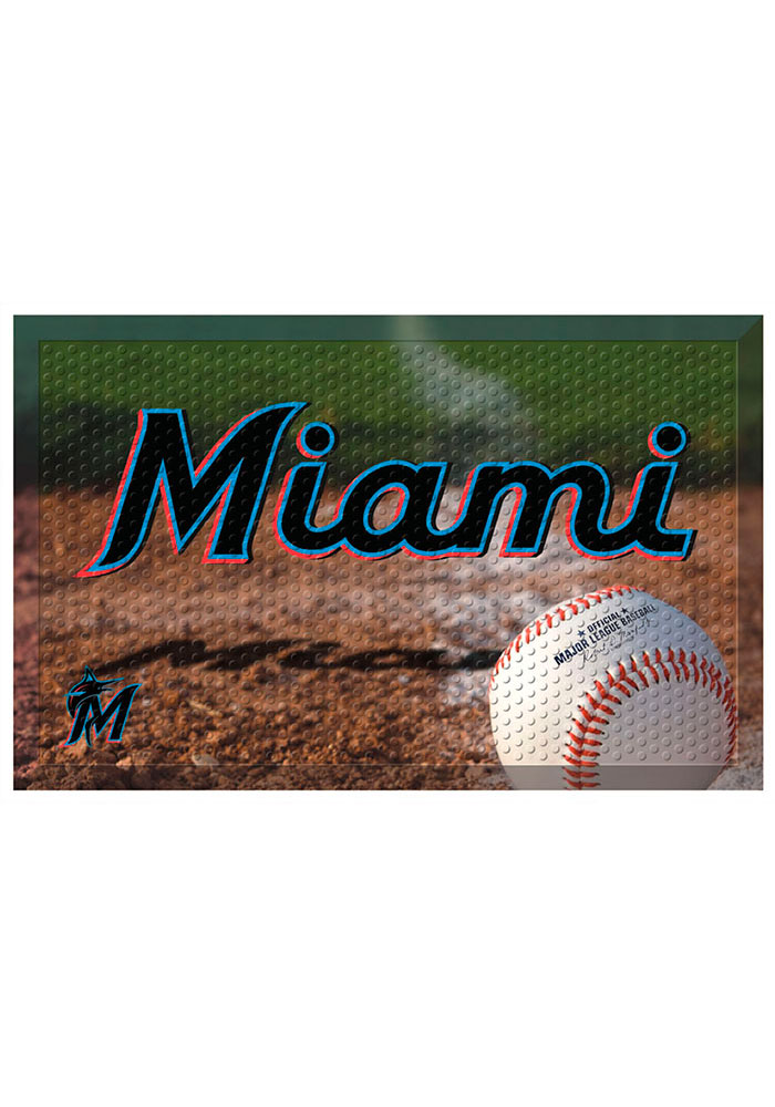 Miami Marlins 19x30 Door Mat - Image 1