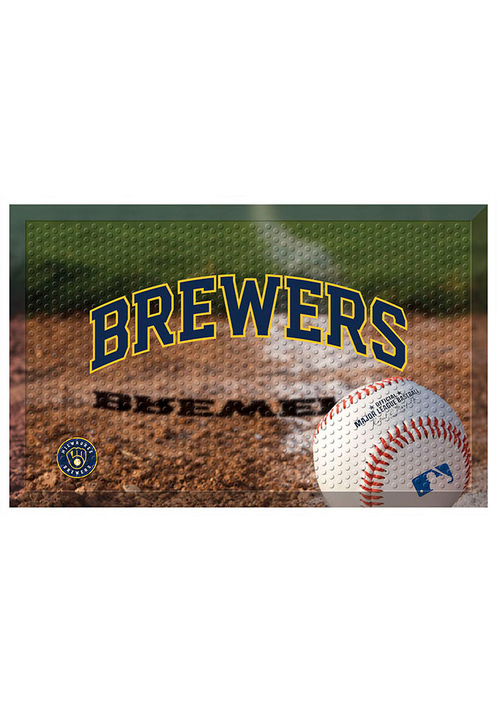 Milwaukee Brewers 19x30 Door Mat - Image 1