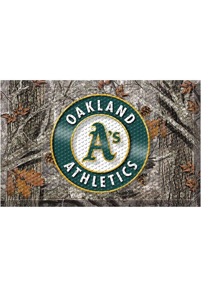 Oakland Athletics 19x30 Door Mat - Image 1