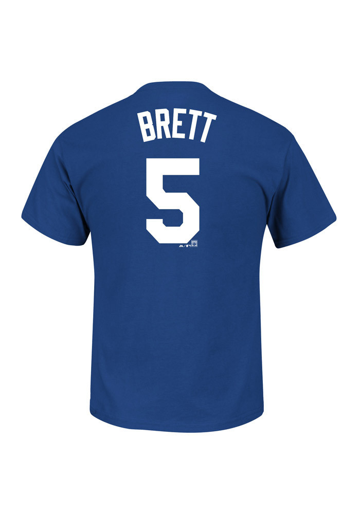 George Brett Kansas City Royals Mens Blue Name and Number Short Sleeve Player T Shirt - Image 1