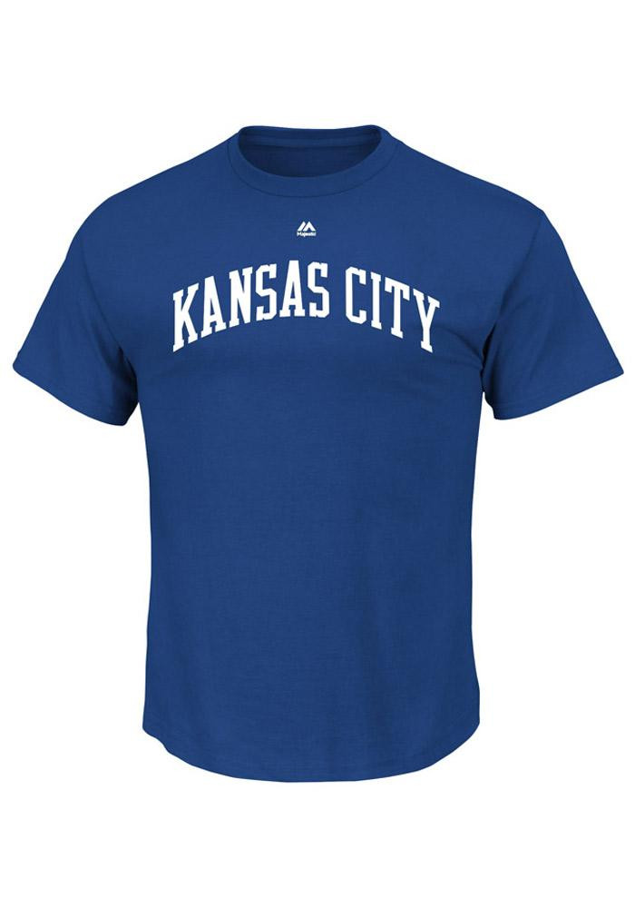 George Brett Kansas City Royals Mens Blue Name and Number Short Sleeve Player T Shirt - Image 2