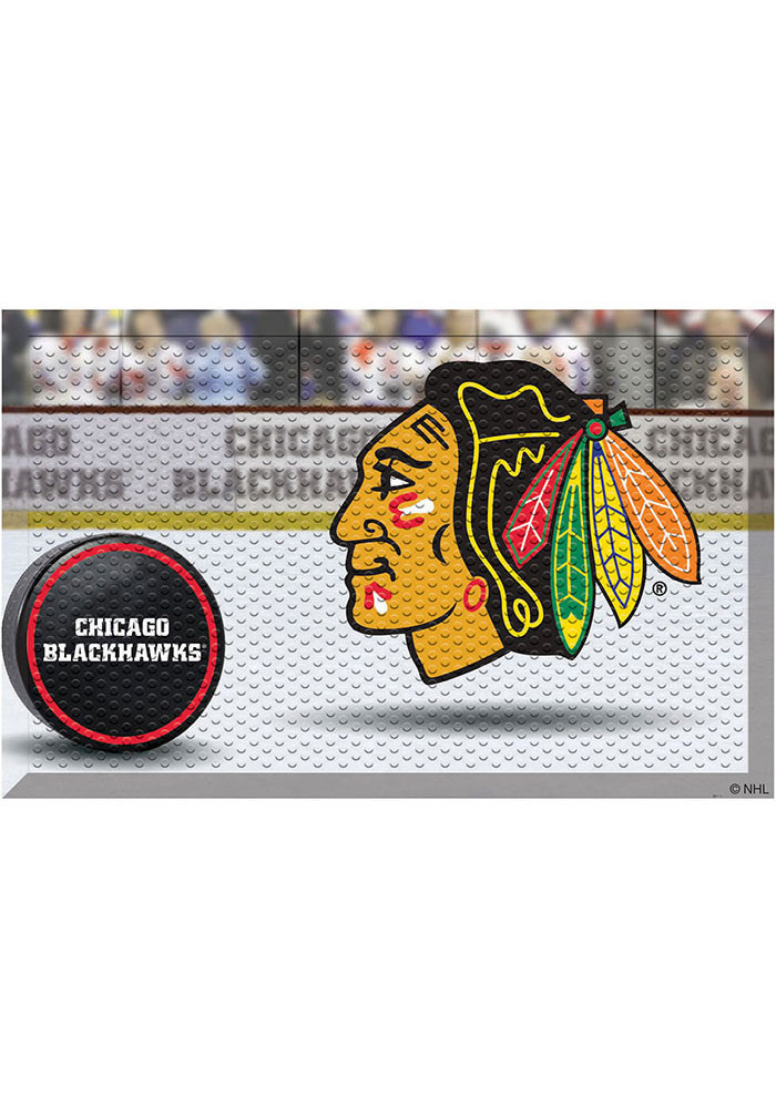 Chicago Blackhawks 19x30 Door Mat - Image 1