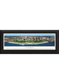St Louis Skyline at Night Panoramic Deluxe Framed Posters