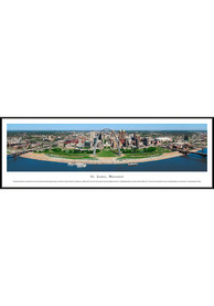 St Louis Skyline at Night Panoramic Standard Framed Posters