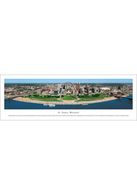 St Louis Skyline at Night Panoramic Unframed Poster