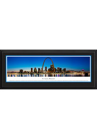 St Louis Skyline Panoramic Deluxe Framed Posters