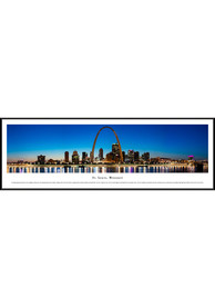 St Louis Skyline Panoramic Standard Framed Posters
