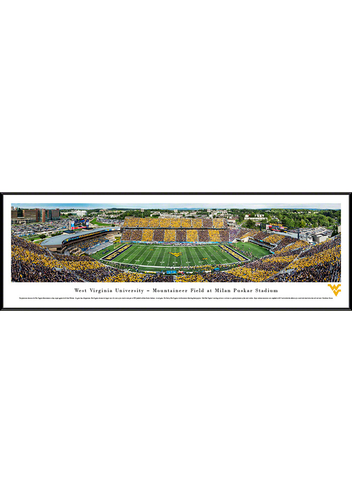 West Virginia Mountaineers Mountaineer Field Panoramic Standard Framed Posters - Image 1