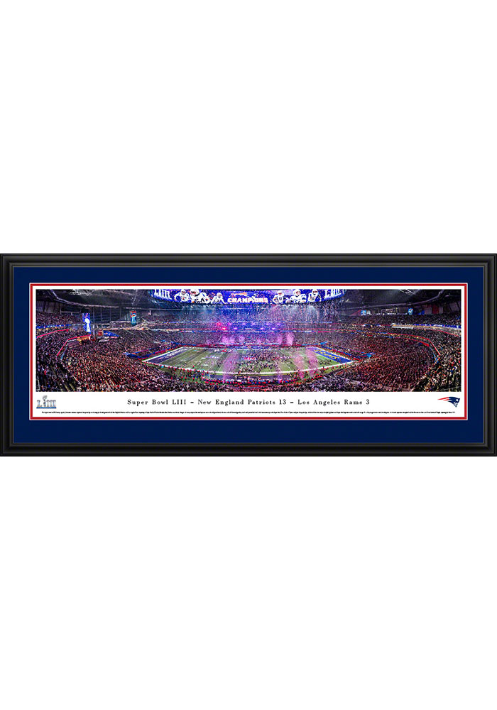 New England Patriots Super Bowl LIII Champions Celebration Deluxe Framed Posters - Image 1
