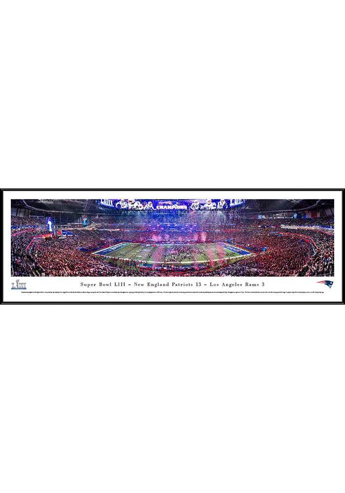 New England Patriots Super Bowl LIII Champions Celebration Standard Framed Posters - Image 1