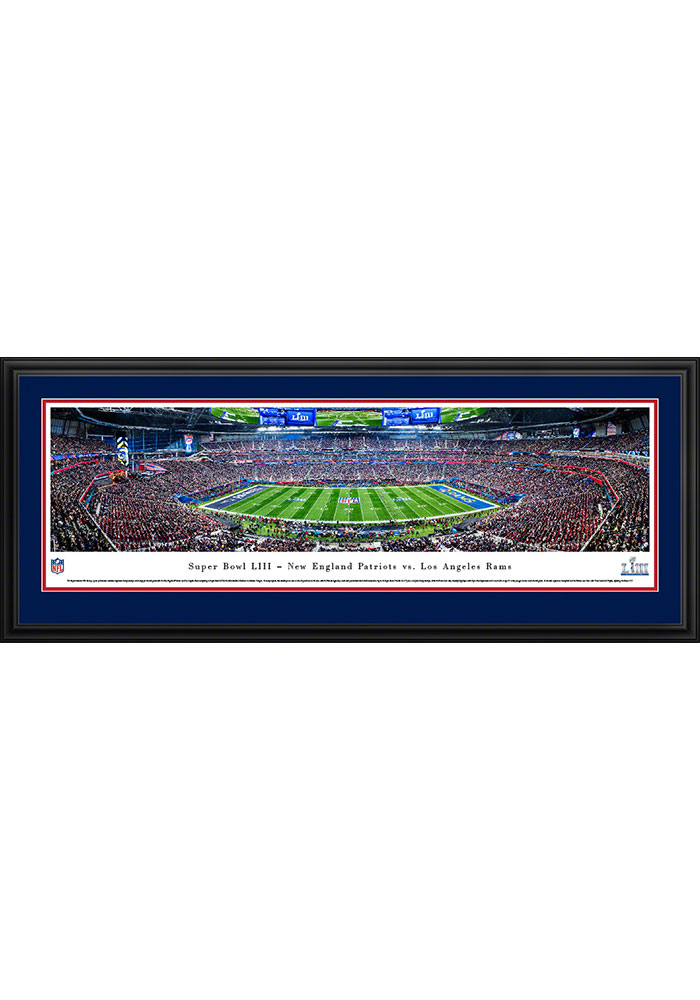 New England Patriots Super Bowl LIII Kickoff Deluxe Framed Posters - Image 1
