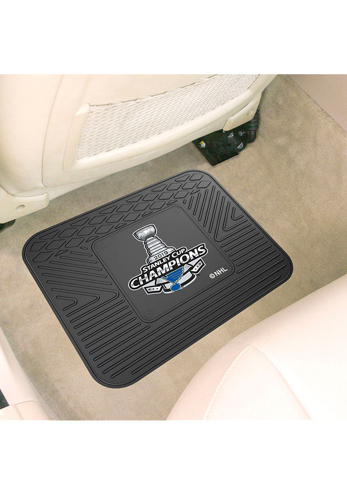 Sports Licensing Solutions St Louis Blues 2019 Stanley Cup Champions 14x17 Utility Car Mat - Black - Image 1