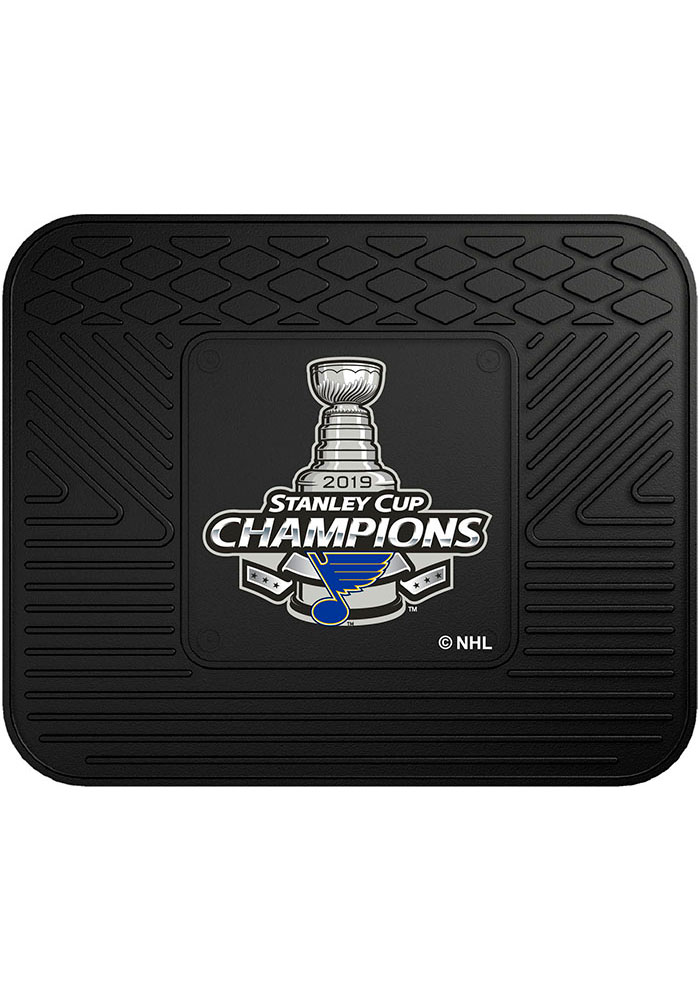 Sports Licensing Solutions St Louis Blues 2019 Stanley Cup Champions 14x17 Utility Car Mat - Black - Image 2