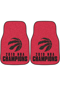 Sports Licensing Solutions Toronto Raptors 2019 NBA Champions 2-Piece Carpet Car Mat - Red