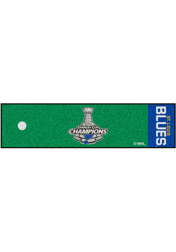 St Louis Blues 2019 Stanley Cup Champions 18x72 Putting Green Runner Interior Rug - Image 2