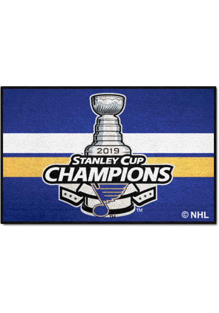St Louis Blues 2019 Stanley Cup Champions 19x30 Starter Interior Rug - Image 1