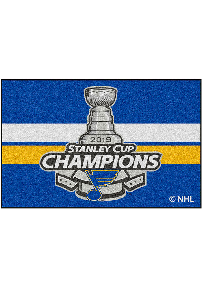 St Louis Blues 2019 Stanley Cup Champions 19x30 Starter Interior Rug - Image 2