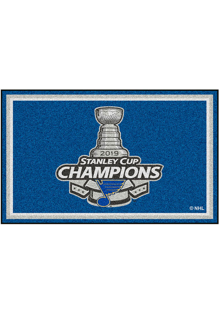 St Louis Blues 2019 Stanley Cup Champions 5x8 Interior Rug - Image 1