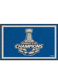 St Louis Blues 2019 Stanley Cup Champions 5x8 Interior Rug