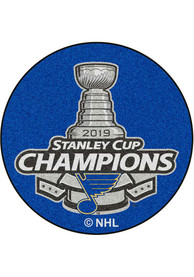 St Louis Blues 2019 Stanley Cup Champions 27 Puck Interior Rug