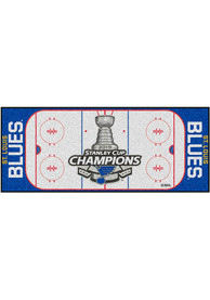 St Louis Blues 2019 Stanley Cup Champions 30x72 Rink Runner Interior Rug