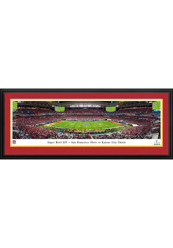 Kansas City Chiefs Super Bowl LIV Kickoff Deluxe Framed Posters - Image 1