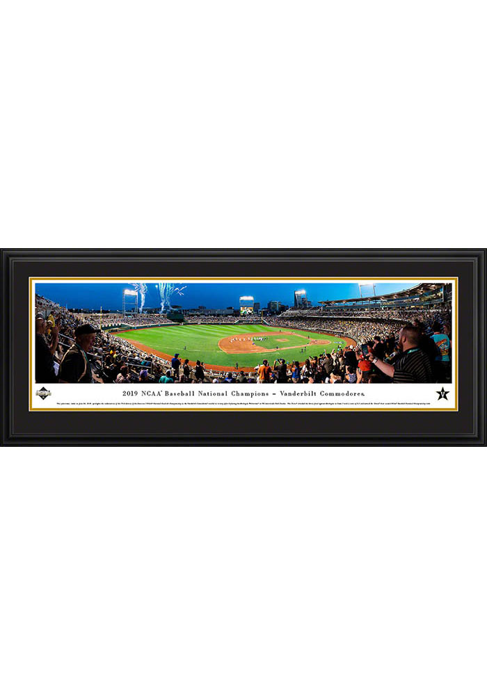 Vanderbilt Commodores 2019 NCAA World Series Champions Deluxe Framed Posters - Image 1