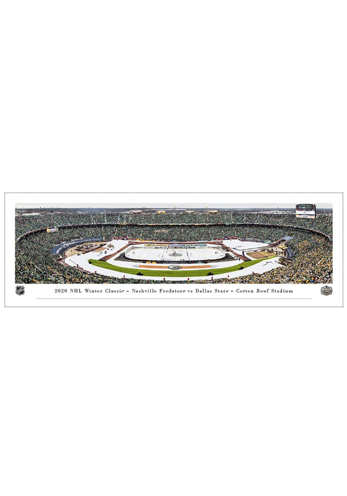 Dallas Stars Winter Classic Panorama Unframed Poster - Image 1