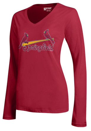 Springfield Cardinals Womens Mia Red LS Tee