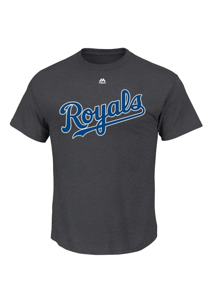 Alex Gordon Kansas City Royals Mens Grey Name and Number Short Sleeve Player T Shirt - Image 2