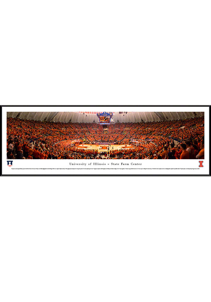 Illinois Fighting Illini State Farm Center Standard Framed Posters - Image 1
