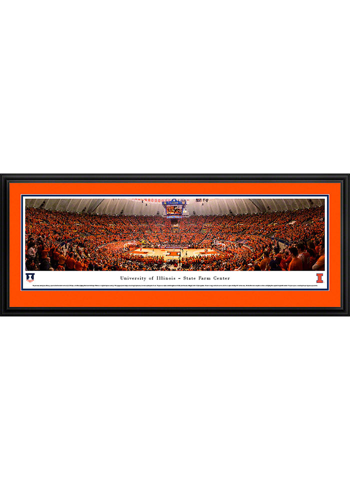 Illinois Fighting Illini State Farm Center Deluxe Framed Posters - Image 1