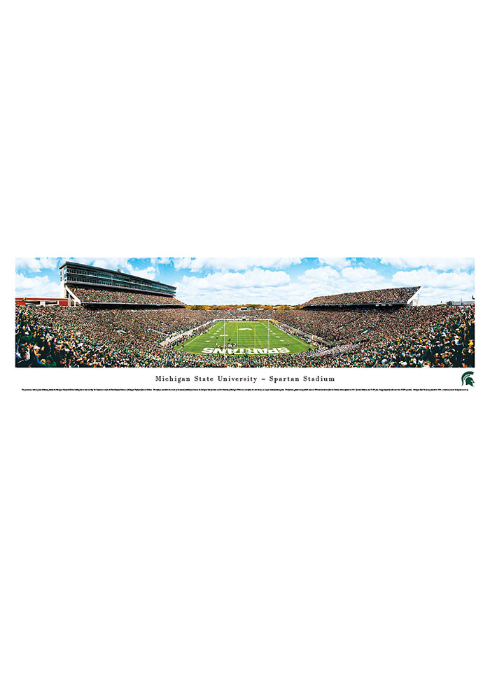 Michigan State Spartans Spartan Stadium Endzone Tubed Unframed Poster - Image 1