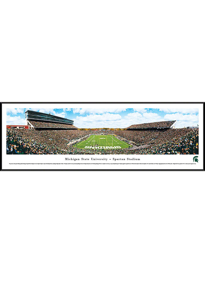 Michigan State Spartans Spartan Stadium Endzone Standard Framed Posters - Image 1