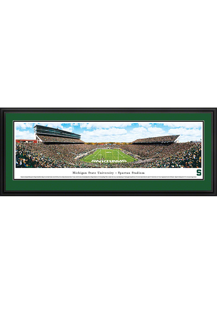 Michigan State Spartans Spartan Stadium Endzone Deluxe Framed Posters - Image 1