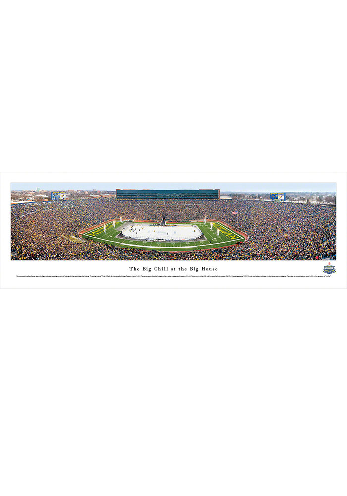 Michigan Wolverines The Big Chill Panorama Unframed Poster - Image 1
